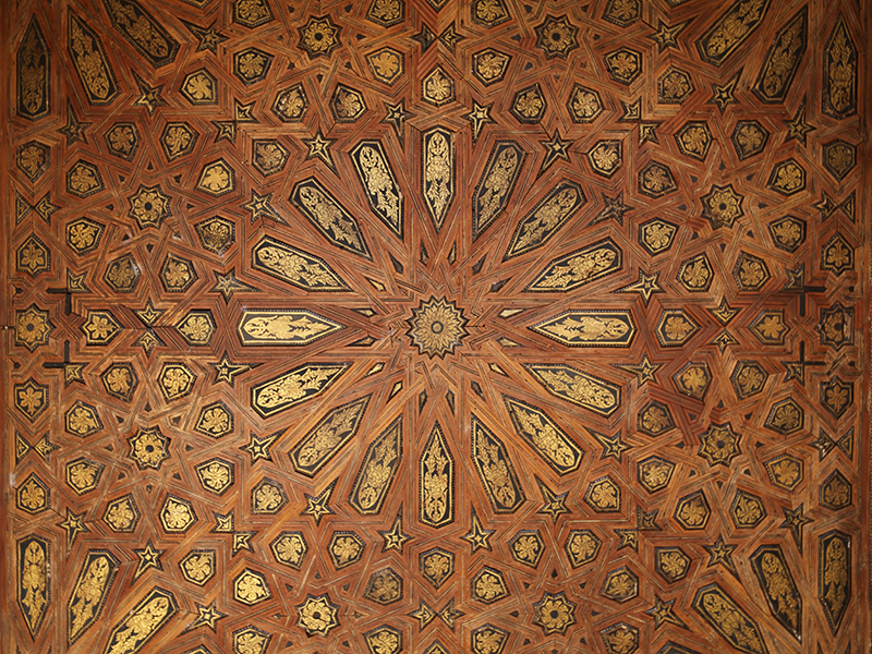 Granada, ceiling in the Alhambra.