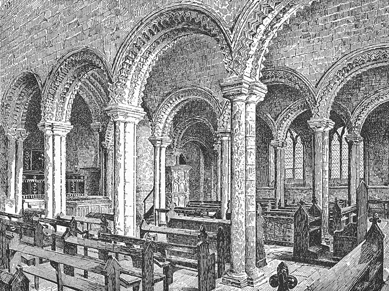 Durham Cathedral, engraving in The English Provinces, 1888.
