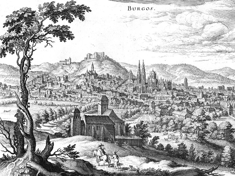 Burgos, copper engraving c. 1700.
