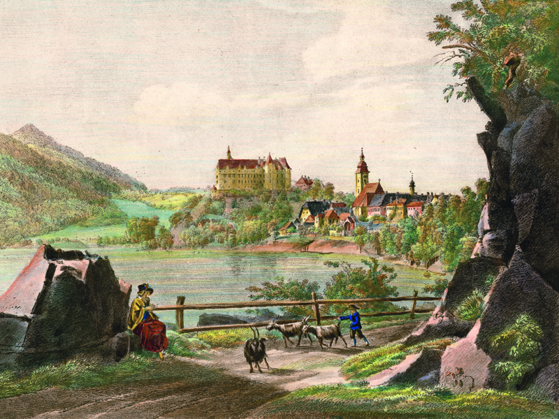Grein, lithograph by A. Kunike c. 1840.