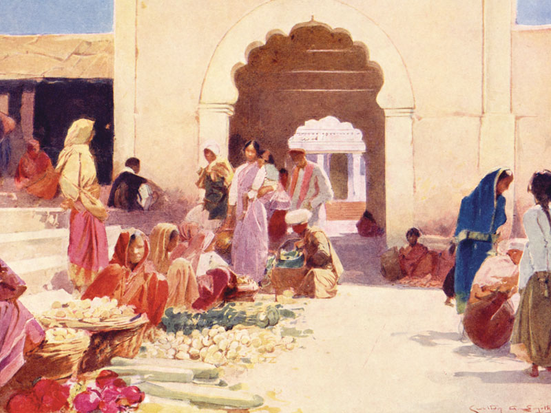 Watercolour by Carlton A. Smith from The Times of India Annual 1935.