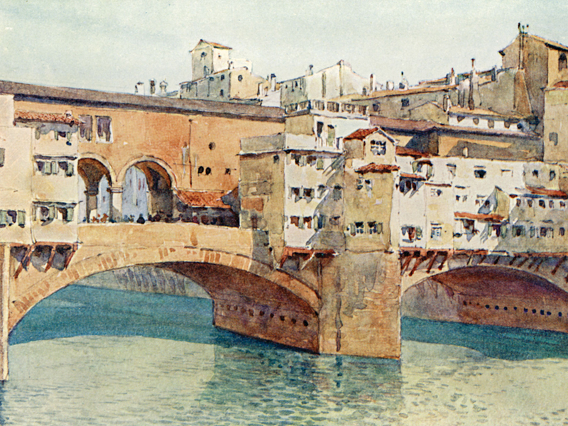 Florence, watercolour by A. H. Hallam Murray, publ. 1904.