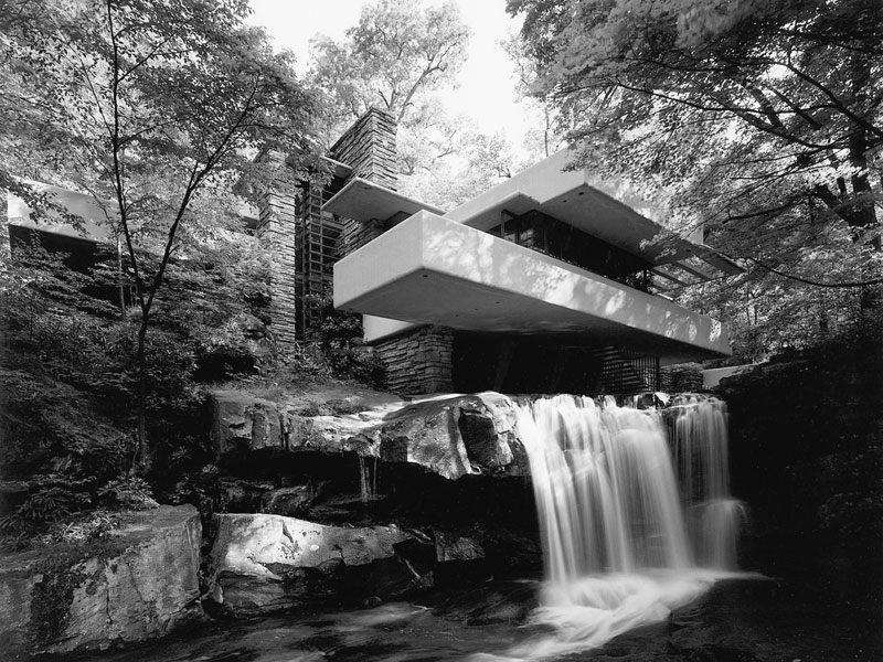 Fallingwater, photograph courtesy of Western Pennsylvania Conservancy.
