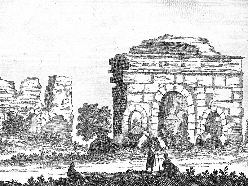 Cretan ruin (unknown location), 18th-century copper engraving.