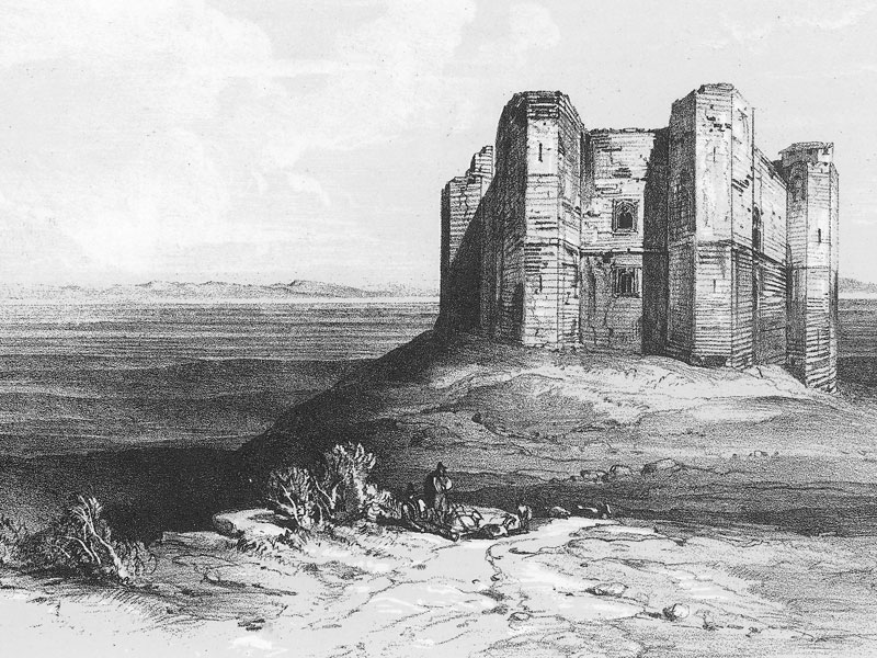 Castel del Monte, lithograph by Edward Lear from Edward Lear in Southern Italy.