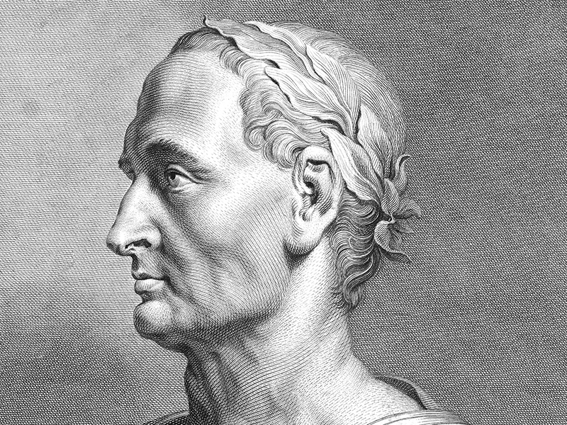 Julius Caesar, engraving by T. Holloway from a drawing by Peter Paul Reubens c.1780.
