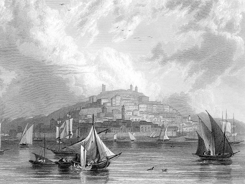 Cagliari, late-19th-century engraving from Gazetteer of the World, Vol. II.