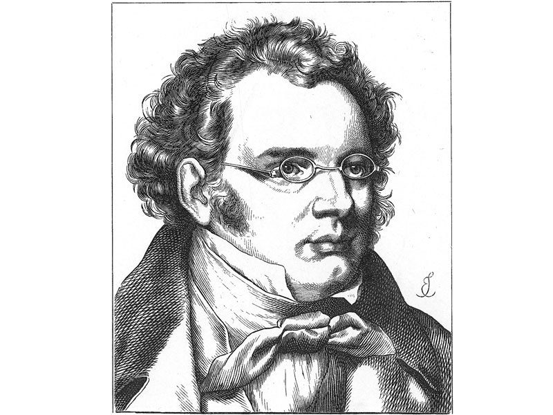 Schubert, German engraving c. 1870.