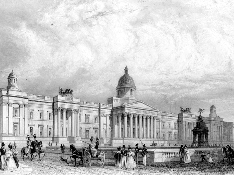 The National Gallery, steel engraving c. 1840.