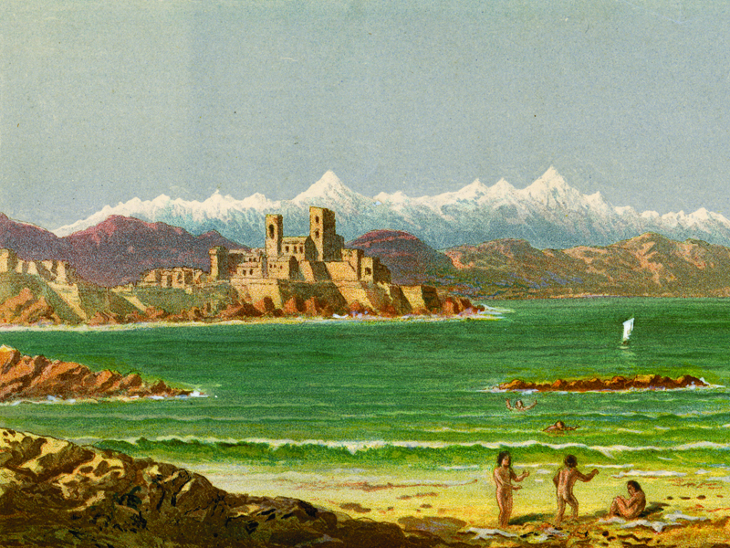 Antibes, oiliograph c. 1870.
