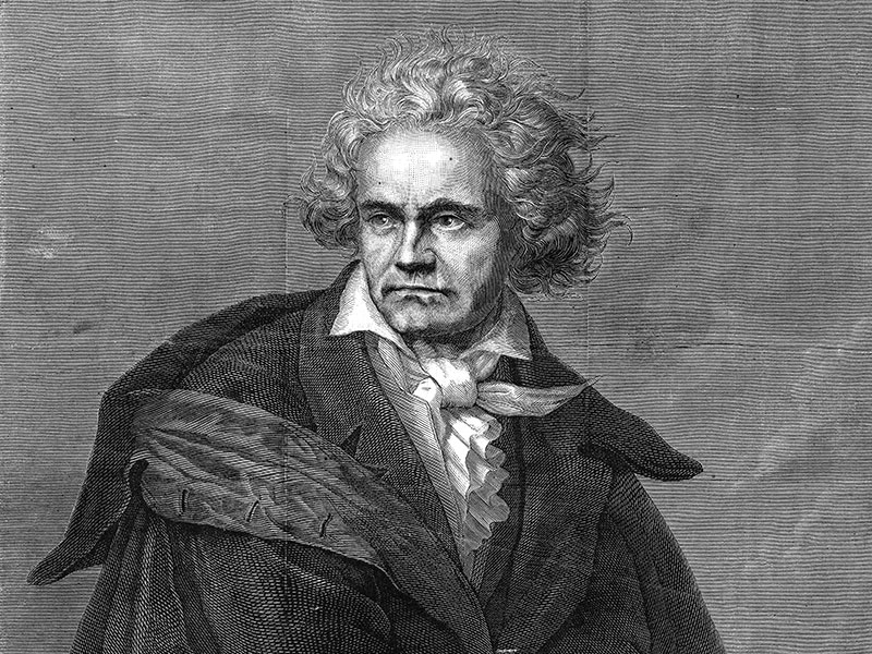 Beethoven, engraving 1870 from 'Harper's Weekly'.