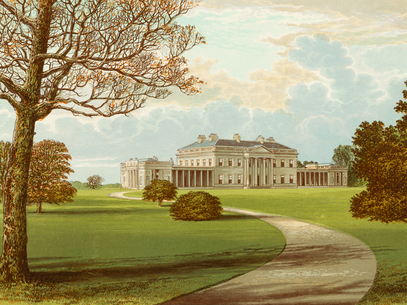 Castle Coole, chromolithograph c. 1880.