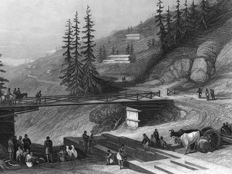 Shimla, steel engraving 1845.