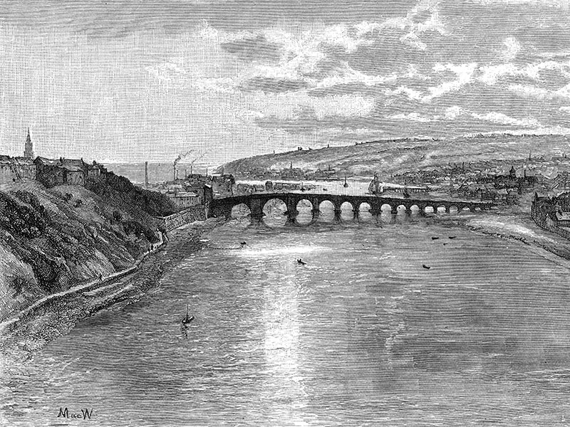 Berwick-upon-Tweed, wood engraving from 'The Art Journal' 1887.