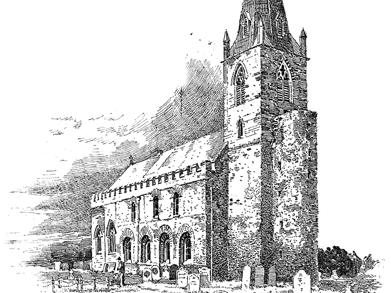 Brixworth, engraving c. 1880.