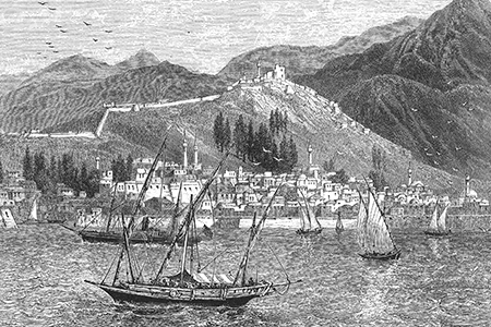 Thessaloniki, wood engraving c. 1880.