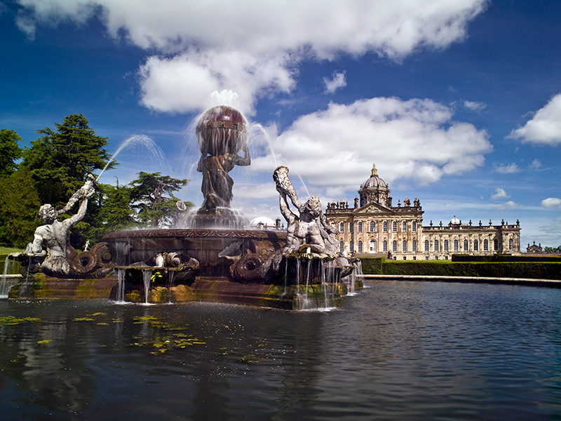 Castle Howard, Atlas fountain, ©Mike Kipling.