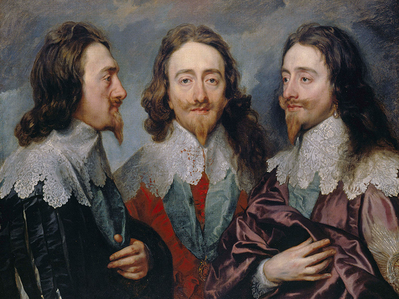 Anthony van Dyck, Charles I, 1635-6 . Oil on canvas, 84.4 x 99.4 cm. RCIN 404420. Royal Collection Trust / © Her Majesty Queen Elizabeth II 2017