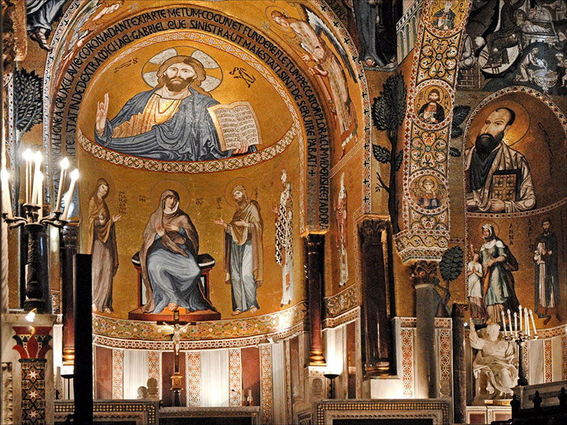 The apse of the Palatine Chapel (Palermo)