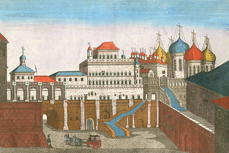 Moscow, early-18th-century copper engraving.