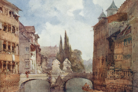 Nuremberg, watercolour by William Callow, published 1908.