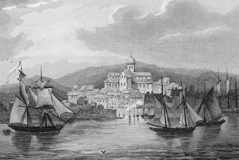 Kirkwall, steel engraving c. 1850