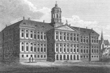 Amsterdam, Town Hall, engraving 1809.