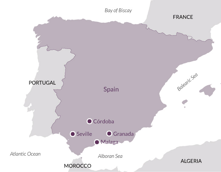 Map for Essential Andalucía.