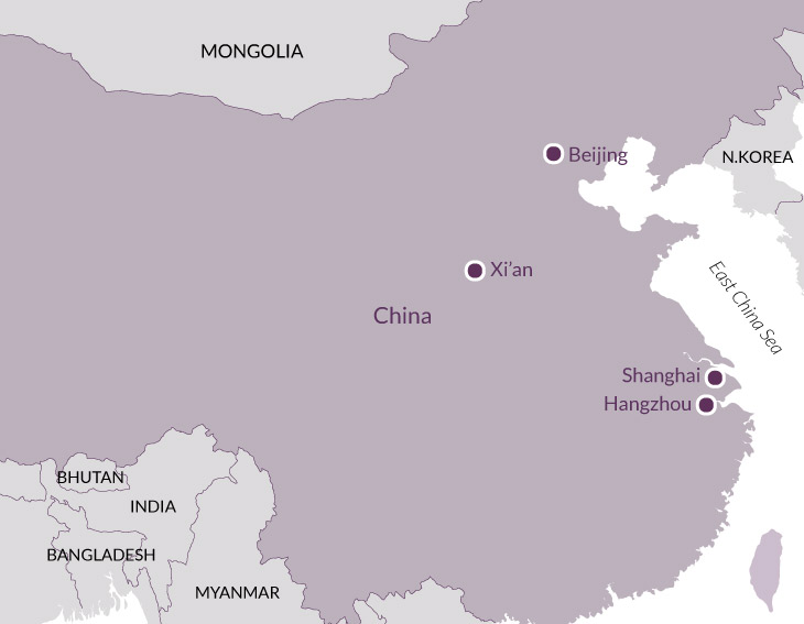 Map for Essential China