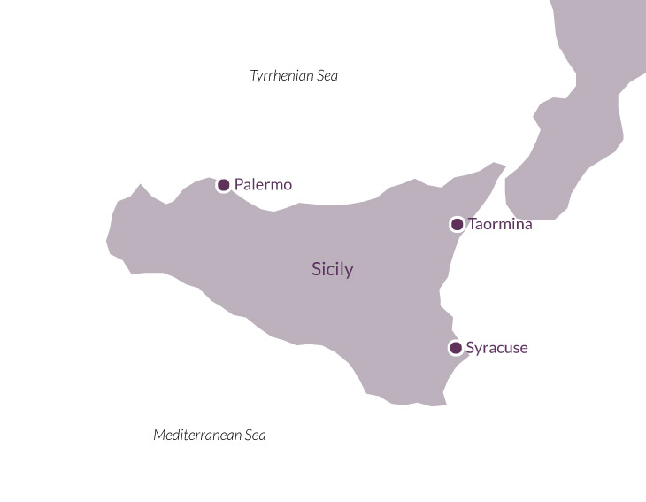 Map for Civilisations of Sicily.
