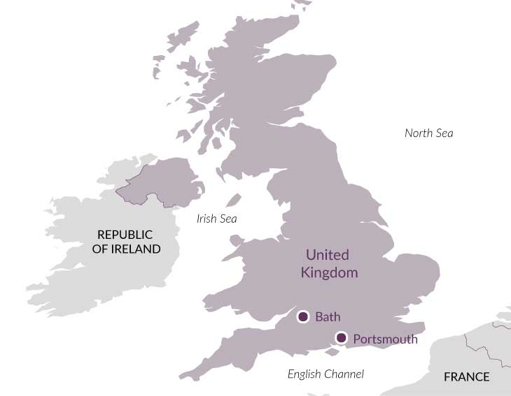Map for Tudor Power in South & West.