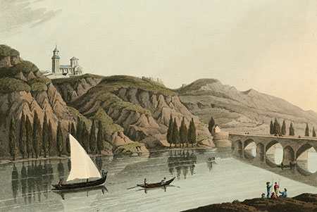 The river Douro, lithograph 1813.