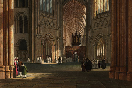 Ely Cathedral, aquatint c. 1823 by Charles Wild (1781–1835).