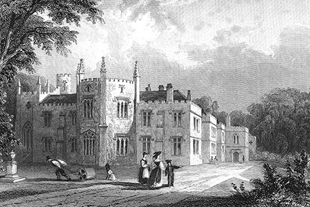 Padstow, Place House, steel engraving 1832.