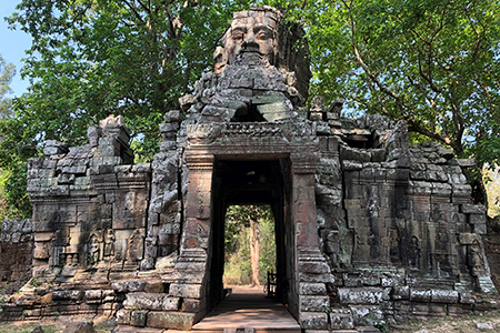 Temple Gate with Buddha Face, Angkor Wat, photograph by Hannah King.