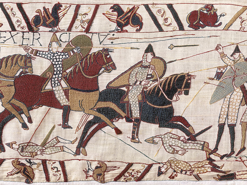 Section of the Bayeux tapestry, ©Ville de Bayeux – Normandy Tourist Board.