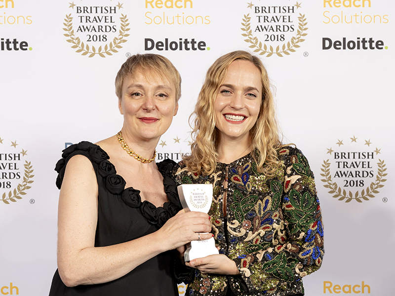 MRT wins Gold at the 2018 British Travel Awards