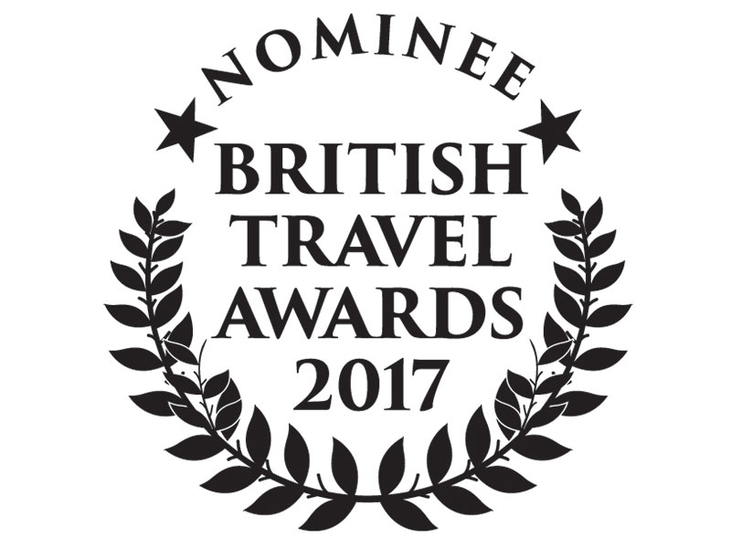 MRT nominated at 2017's British Travel Awards