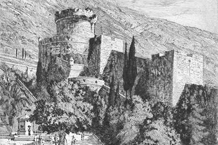 Dubrovnik, 20th-century etching.