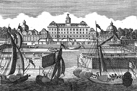 Drottningholm Palace, copper engraving c. 1700.