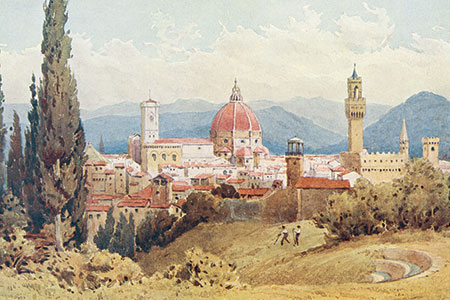 Florence, watercolour publ. 1904.