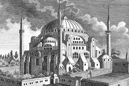 Istanbul, Haghia Sophia, early 18th-century engraving.