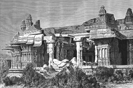 Hampi, Dutch wood engraving c. 1880.