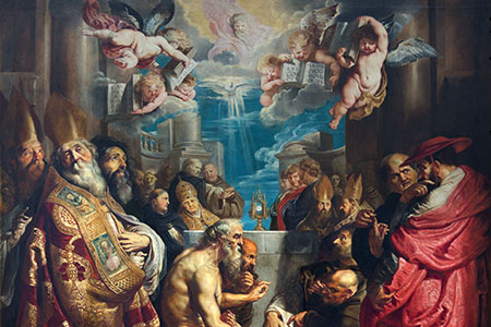 Rubens, Disputation of the Holy Sacrament, in St Paul's Church (Paulskerk) Antwerp
