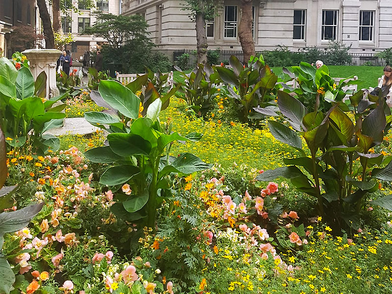 Green escapes in London's Square Mile