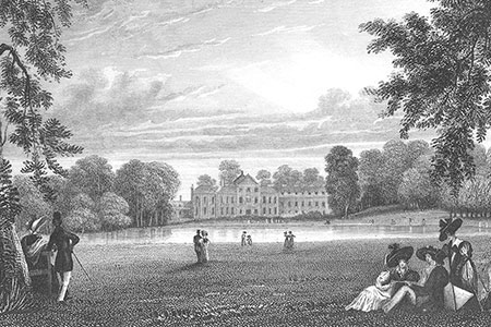 Kensington Palace, Hyde Park, steel engraving, 19th c.