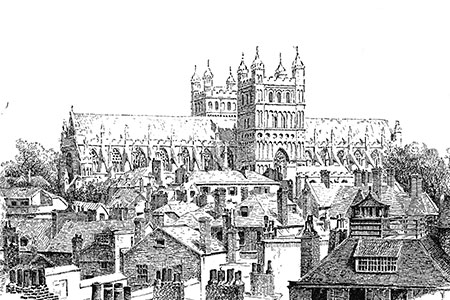 Exeter Cathedral, from The English Provinces p265.