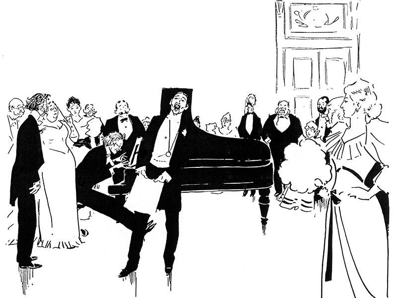 'At Homes – 1. Music' by Phil May 1894