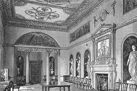 Syon House, the dining room, The Magazine of Art, publ. 1884.