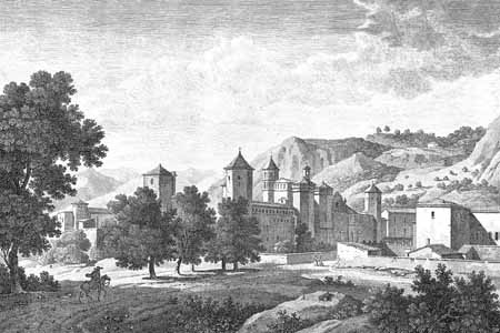 Monastery of Poblet, late-18th-century engraving.